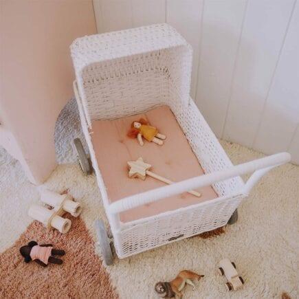 Olli Ella Matratze für Puppenwagen Strolley - Weiß