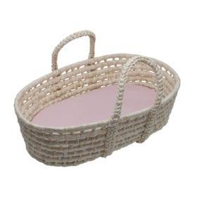 Sebra – Doll's carry cot – Sunset Pink
