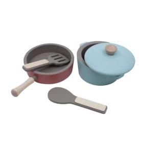 Sebra – Wooden Kitchen Tools Set – Warm Grey