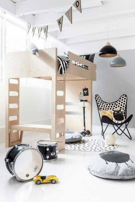 Rafa-kids - F Bunk Bed with B Bench - Natural