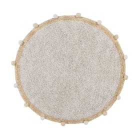 Lorena Canals – Washable Rug – Bubbly – Natural/Honey – Ø 120 cm