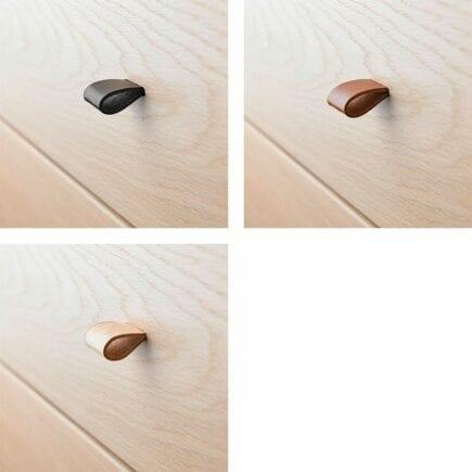 Leander handles leather 6 pcs classic dresser