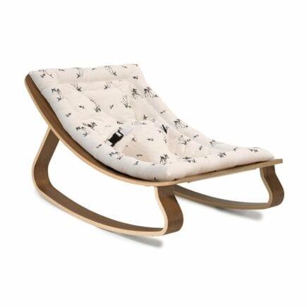 Bouncer-LEVO-Walnut-with fawn-seat