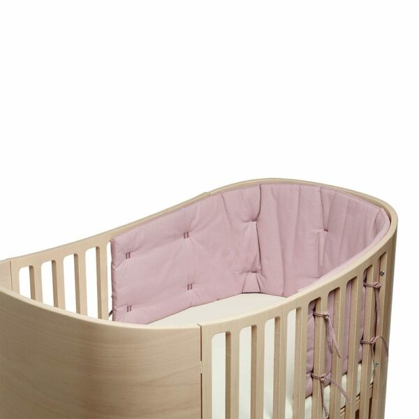 Leander Bumper for Classic baby cot Organic dusty rose