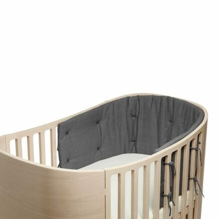 Leander Bumper for Classic baby cot Organic cool grey