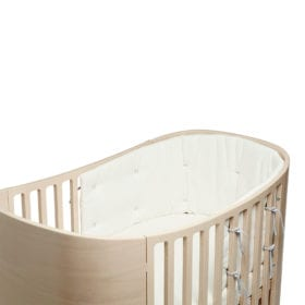 Leander – Bumper for Classic Baby Cot – Snow