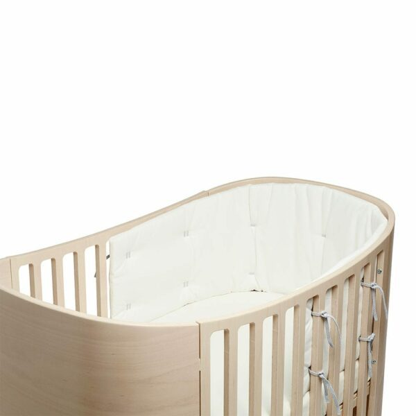 Leander Bumper for Classic baby cot Organic snow