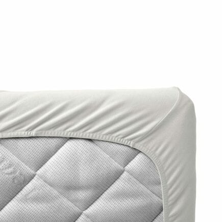 Leander Sheet for baby cot organic snow 60 x 120 cm
