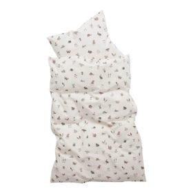 Leander – Babybed Dekbedovertrek – Forrest – Dusty Rose – 70 x 100 cm