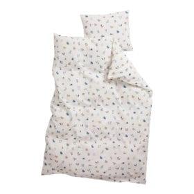 Leander – Juniorbettwäsche für Juniorbett – Forrest – Dusty Blue – 100 x 140 cm