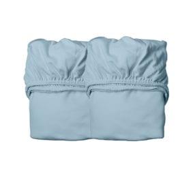 Leander – Sheets for Junior Bed, Organic – Dusty Blue (2pcs.) 70×140 cm