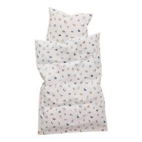 Leander – Babybettwäsche für Babybett – Forrest – Dusty Blue – 70 x 100 cm