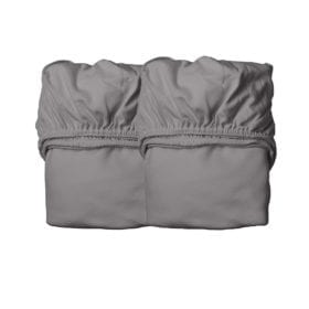 Leander – Sheets for Baby Cot, Organic – Cool Grey (2pcs.) 60 x 120 cm