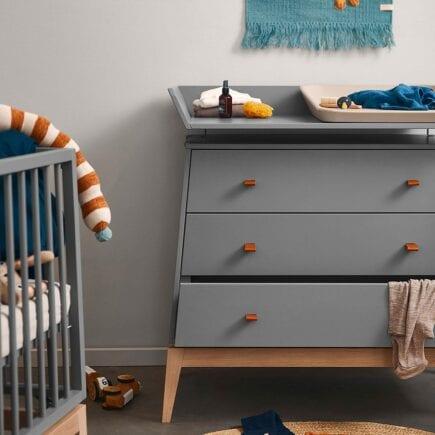 Changing unit for Leander Luna dresser grey/oak