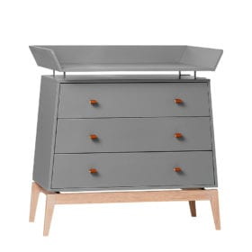 Leander – Changing Unit for Luna Dresser – Grey