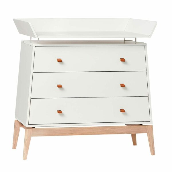 Changing unit for Leander Luna dresser white/oak