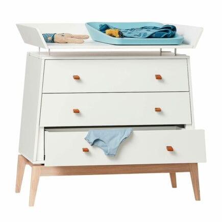 Changing unit for Leander Luna dresser white/oak