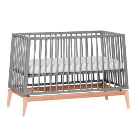 Leander – Luna – Babybett – Grau/Eiche – 60 x 120 cm