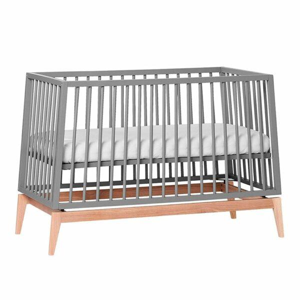 Leander-Luna-babycot-60 x 120 cm-grey/oak