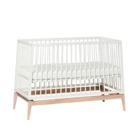 Luna – Baby Cot – White/Oak – 70 x 140 cm