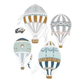 Kinder Wandsticker – Ballons 4 – 100 x 125 cm