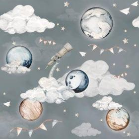 Dekornik – Kindertapete – Magische Planete – 100 x 280 cm