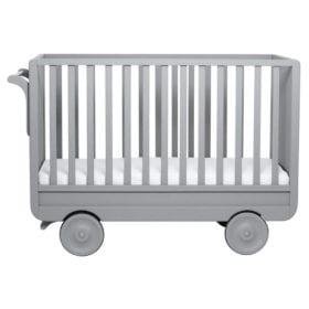 Laurette – Baby Cot La Roulotte – 60 x 120 cm – Pale Grey
