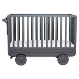 Laurette – Baby Cot La Roulotte – 60 x 120 cm – Dark Grey
