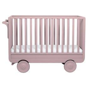 Laurette – Baby Cot La Roulotte – 60 x 120 cm – Old Pink