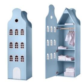 This is Dutch – Cabinet Amsterdam, Bellgable – Pastel Blue – 198 x 55 x 55 cm
