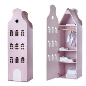 This is Dutch – Cabinet Amsterdam, Bellgable – Pastel Pink – 198 x 55 x 55 cm