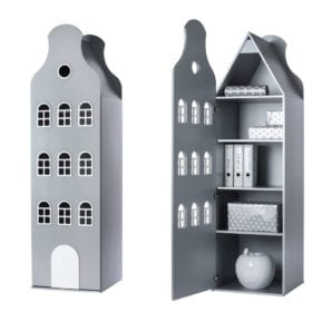 This is Dutch – Cabinet Amsterdam, Bellgable – Silver – 198 x 55 x 55 cm