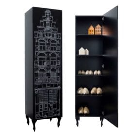 This is Dutch – Cabinet Amsterdam, Stairgable – Black Print