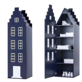 This is Dutch – Cabinet Amsterdam, Stairgable – Night Blue – 198 x 55 x 55 cm
