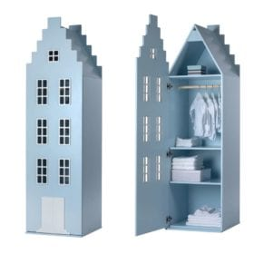 This is Dutch – Cabinet Amsterdam, Stairgable – Pastel Blue – 198 x 55 x 55 cm