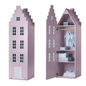 This is Dutch – Cabinet Amsterdam, Stairgable – Pastel Pink – 198 x 55 x 55 cm