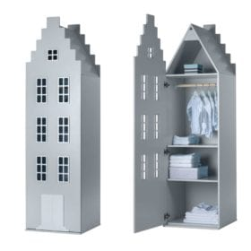 This is Dutch – Cabinet Amsterdam, Stairgable – Silver – 198 x 55 x 55 cm
