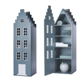 This is Dutch – Cabinet Amsterdam, Stairgable – Petrol – 198 x 55 x 55 cm