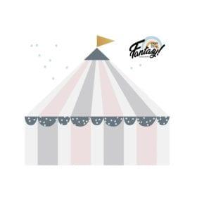 Kinder Wandsticker – Zirkus Pastel – 72 x 80 cm