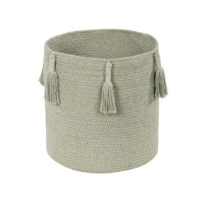 Lorena Canals – Basket Woody – Olive – 30 x 30 cm