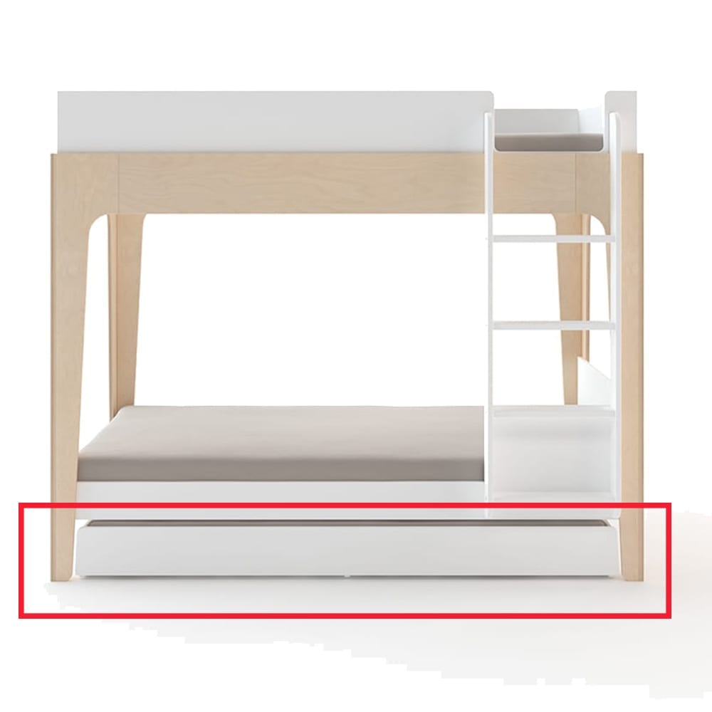 Oeuf  NYC – Trundle Bed (Incl. ladder) for Junior Bunk Bed – Perch – White
