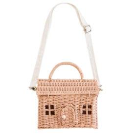 Olli Ella – Rattan Casa Bag – Rose