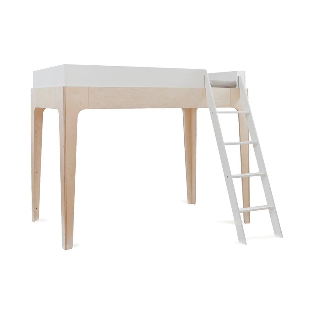 Hoogslaper – Junior Loft Bed – Perch – Berken/Wit