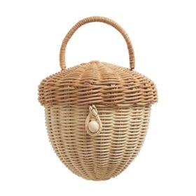 Rattan Acorn Bag