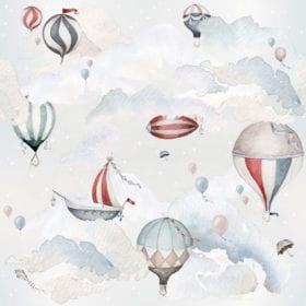 Dekornik – Muursticker – Balloons Adventure – 100 x 180 cm