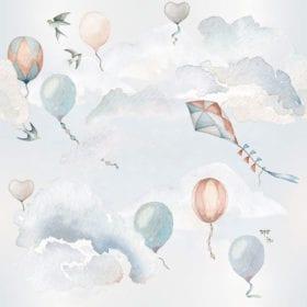 Dekornik – Muursticker – Balloons Fairytale – 100 x 280  cm