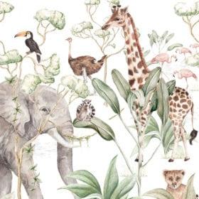 Dekornik – Muursticker – Savanna Adventure – 8 set 50 x 280 cm