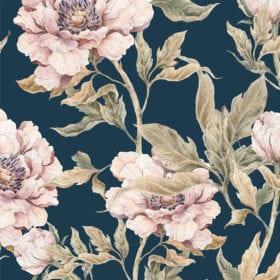 Wallpaper – Peony Dark – 100 x 280 cm