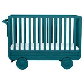 Laurette – Baby Cot La Roulotte – 60 x 120 cm – Blue Canard