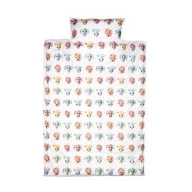 Studio Ditte – Dekbedovertrek Baby – Wilde Dieren Lief – 100 x 135 cm